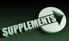 supplements - stock illustration