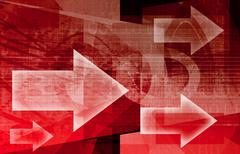 Digital network Stock Illustration