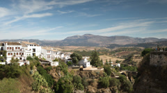 Stock Video Footage of picturesque spanish town of ronda
