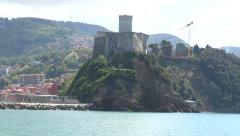 View of the castle in Lerici Stock Footage