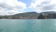 View of the Italian coast Stock Footage