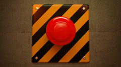 Emergency button alarm help industrial security switch warehouse panic. Stock Footage
