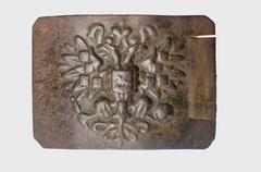 Old rusty belt buckle Stock Photos