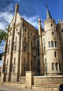 episcopal palace - stock photo