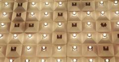 Ultra HD 4K Nightlife Incandescent Lights Bulbs Display Ceiling Las Vegas Strip Stock Footage