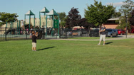 Stock Video Footage of Mom and young son playing catch (2 of 3)