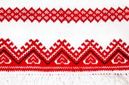 Stock Photo of ukrainian national ornament embroidery closeup
