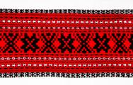 Stock Photo of ukrainian traditional red and black ornament embroidery
