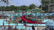 Stock Video Footage of Fun in the Community Pool (4 of 5)