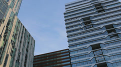 Business buildings in Amsterdam, camera moves to left Stock Footage