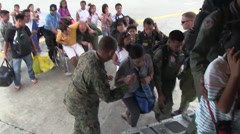 Operation Damayan Typhoon Haiyan humanitarian assistance Stock Footage