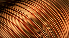 Stock Video Footage of Copper conductor construction electricity metallic wire expensive industrial