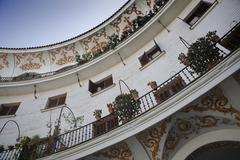 Detail of the contemporary building in the square of cabildo, seville Stock Photos
