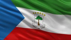 Flag of Equatorial Guinea - stock illustration