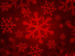 abstract red background with snowflakes - stock illustration