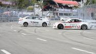 Stock Video Footage of Show Drift Car In Toyota Motor Sport Thailand 2013