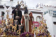 San gonzalo brotherhood in the triana district in procession  Stock Photos