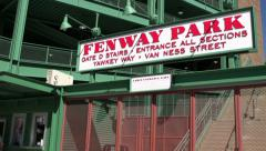 Gate D entrance to Fenway Park Stock Footage