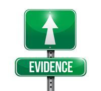 Evidence road sign illustration design Stock Illustration