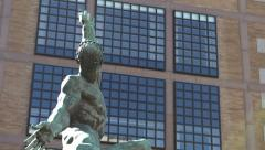 Quest Eternal sculpture in downtown Boston Stock Footage