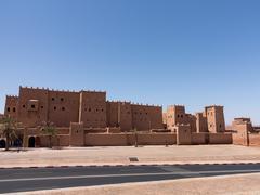 quarzazate kasbah taourirt in morocco - stock photo
