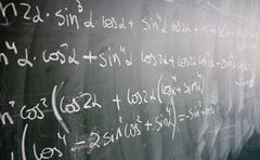 Blackboard with formulas and numbers Stock Photos