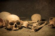 Stock Photo of macabre archaeological scene