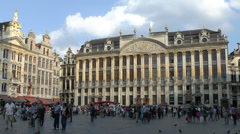 Maison des Ducs de Brabant in Grand Place, Brussels, Belgium. Stock Footage