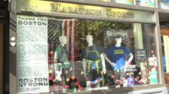 Marathon Sports store in downtown Boston Stock Footage