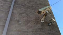 Security camera on side of building 720p Stock Footage