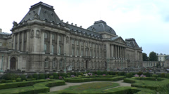 The Palais Royale in Brussels, Belgium. Stock Footage