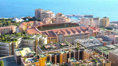 View of Monaco and the Stadium Louis-II Stock Footage