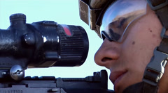 U.S. infantry soldier sniper Stock Footage