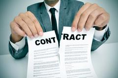 Rip up the contract Stock Photos