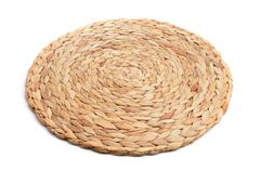 Stock Photo of natural fibers braided trivet mat