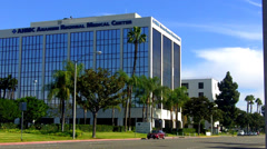 Anaheim Regional Medical Center Main Building Stock Footage