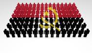 Stock Illustration of angola flag parade