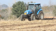 Stock Video Footage of Agriculture farmer working tractor harvest machinery agronomy
