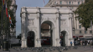 Stock Video Footage of Marble Arch in Central London