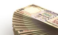 Stock Illustration of stack of indian rupee