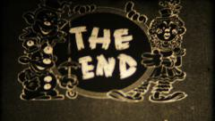 666 - THE END vintage film graphic - vintage film Stock Footage