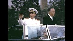 Barcelona 18th June 1970: Francisco Franco in his last visit to Catalan city Stock Footage