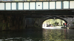 London canal pleasure activity Stock Footage