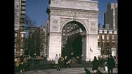 Stock Video Footage of New York 1967: Washington square