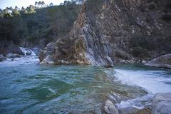 borosa river, sierra de cazorla natural park, andalusia, jaen province, spain - stock photo