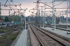 Railway line espeluy, municipality of espeluy near jaen, spain Stock Photos