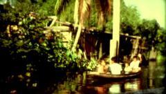 Culture Nepal colcher Kathmandu boat tour poverty vintage historic Stock Footage