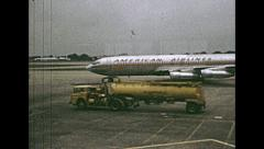 USA 1968: American Airlines aircraft in strip - stock footage