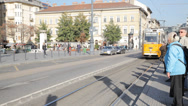 Stock Video Footage of Budapest Street Car