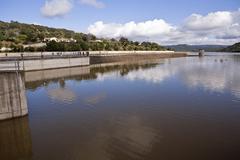 Reservoir of san rafael de navallana, near cordoba, andalusia, spain Stock Photos